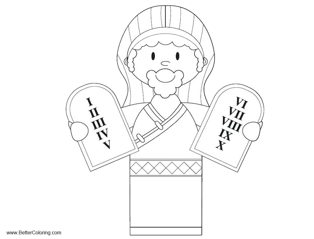 Free Ten Commandments Tablets Coloring Pages printable