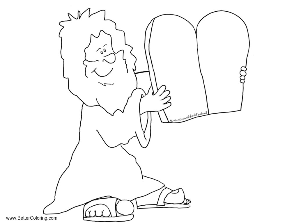 The Ten Commandments Coloring Pages
