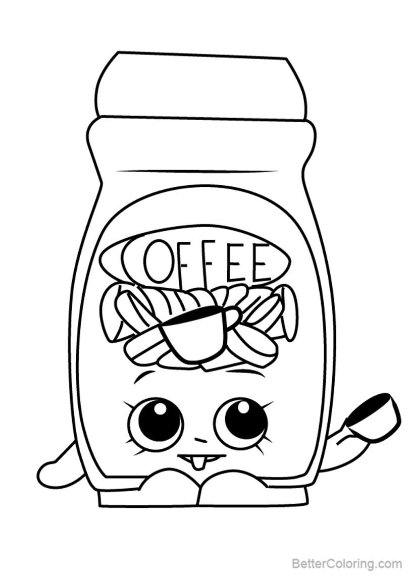 Free Toffy Coffee from Shopkins Coloring Pages printable