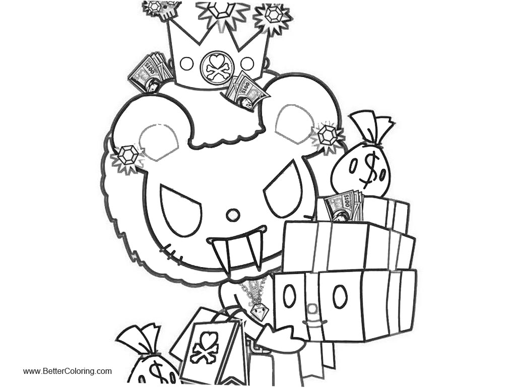 Free Tokidoki Coloring Pages Clipart printable