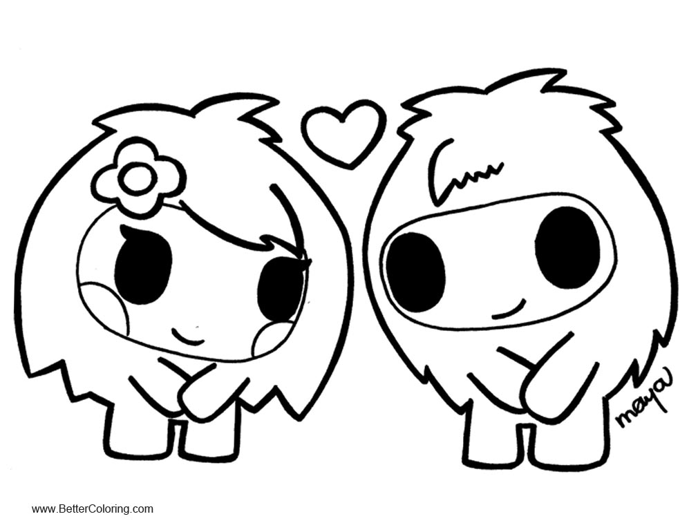 Tokidoki Coloring Pages Line Drawing - Free Printable Coloring Pages