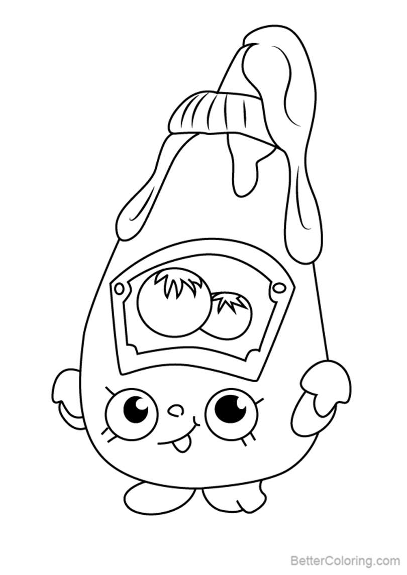 Free Tommy Ketchup from Shopkins Coloring Pages printable