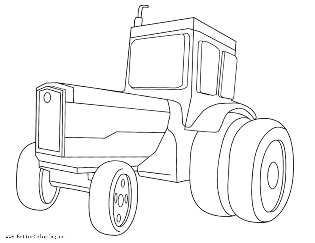 Free Tractor Coloring Pages Black and White printable