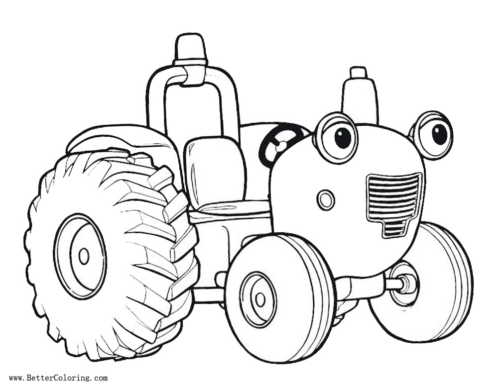 Free Tractor Coloring Pages Cartoon Face printable