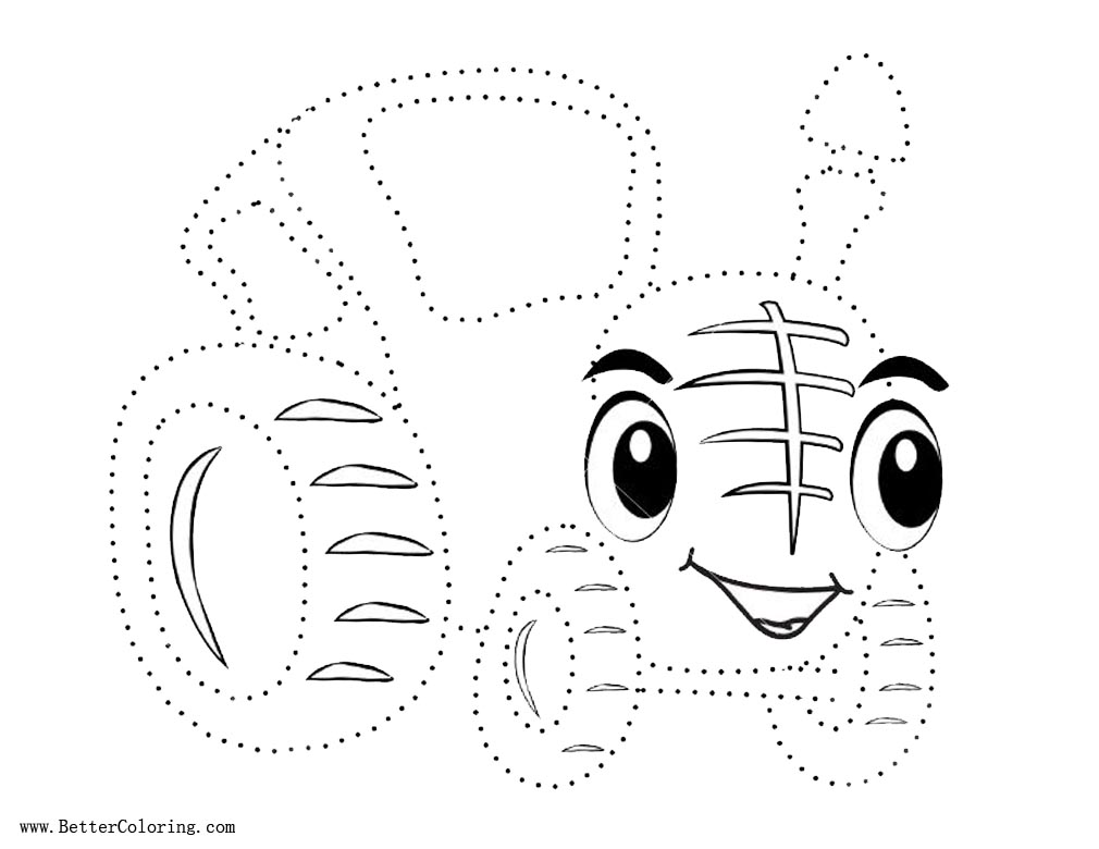 Free Tractor Coloring Pages Dot to Dot Activity printable