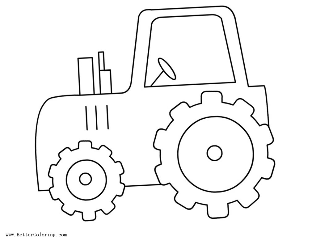 Imagenes Para Niños Para Colorear Faciles: Tractor Coloring Pages Easy For Kids