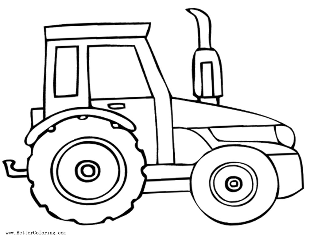 Free Tractor Coloring Pages Linear printable