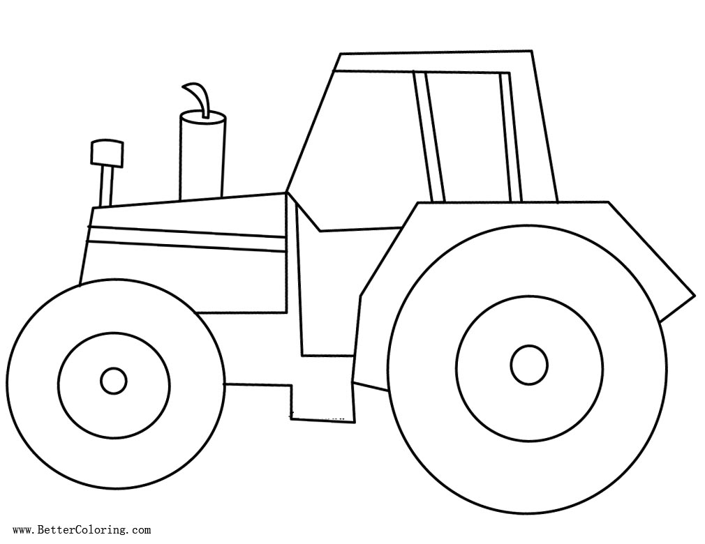 Simple Tractor Coloring Page Free inspector gadjet coloring pages