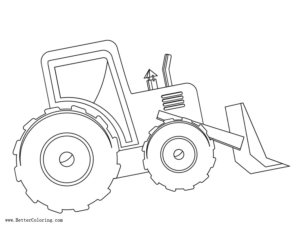 Free Tractor Coloring Pages Side View printable