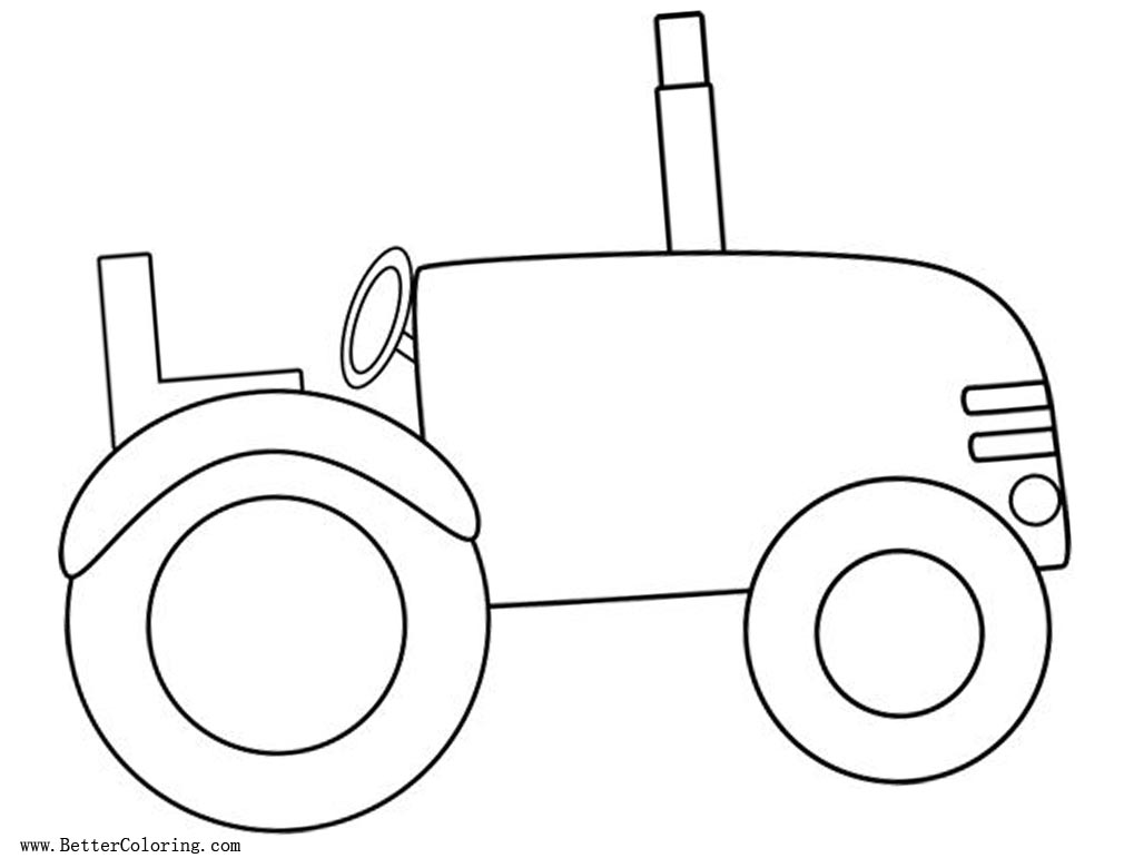 Tractor Coloring Pages Simple for Kids - Free Printable Coloring Pages