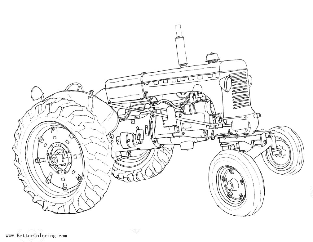 Free Tractor Coloring Pages Sketch printable
