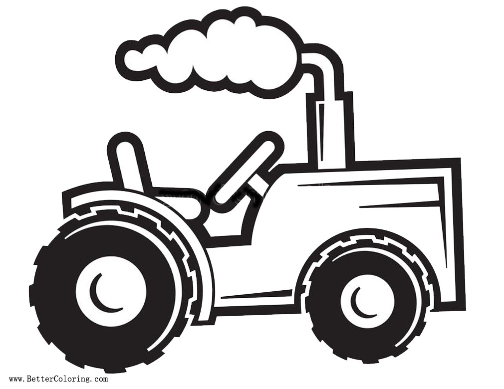 Tractor coloring pages Easy Drawing Free Printable