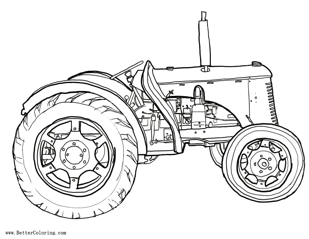 Free Tractor coloring pages Line Drawing printable