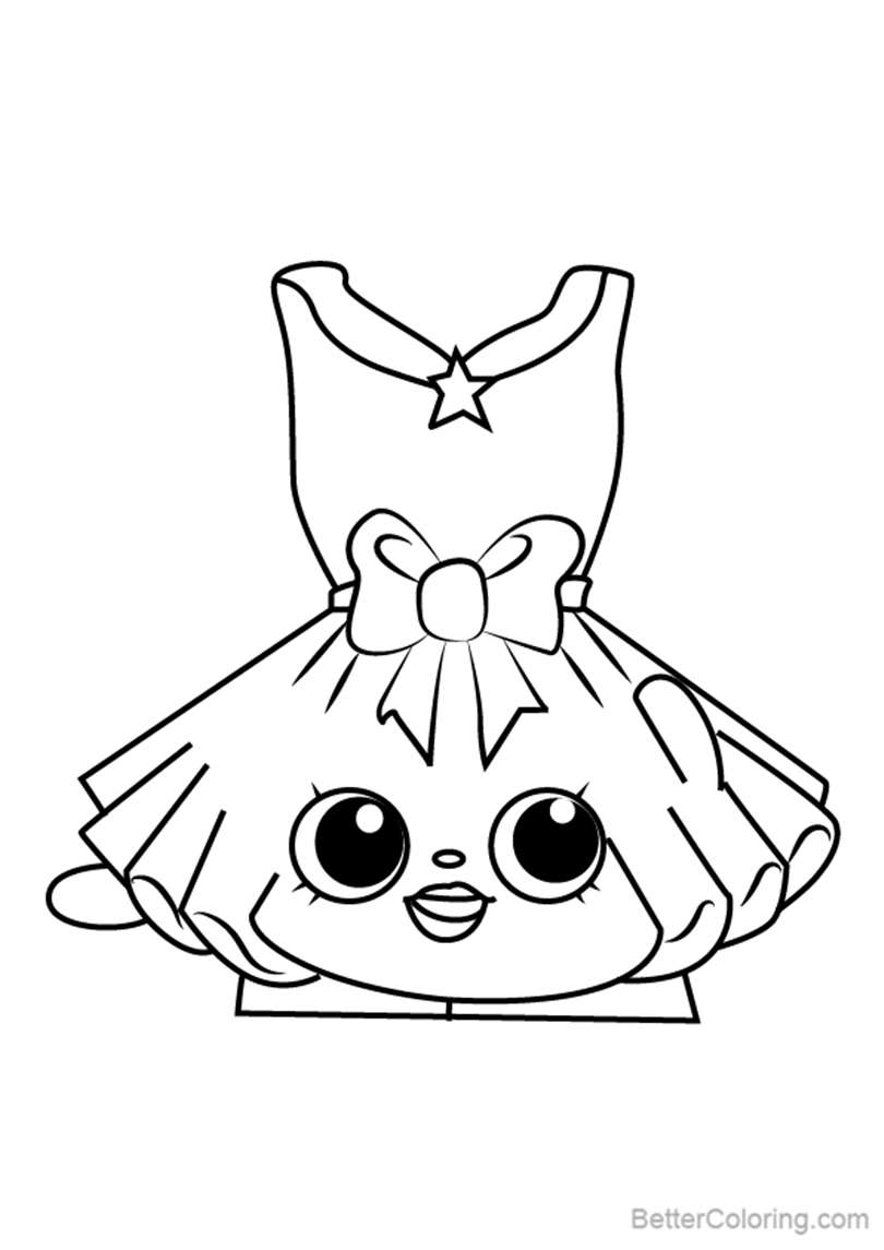 Free Tutucute from Shopkins Coloring Pages printable