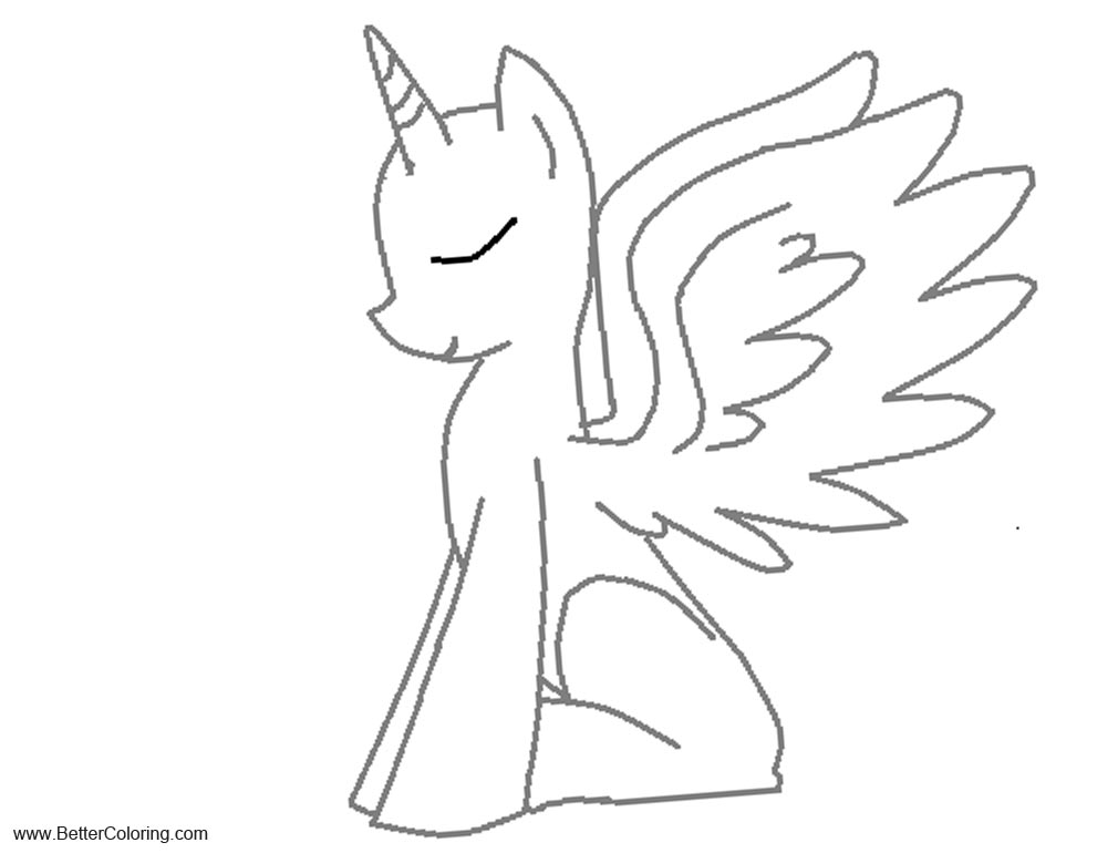 Free Twilight Alicorn Coloring Pages Fan Art printable