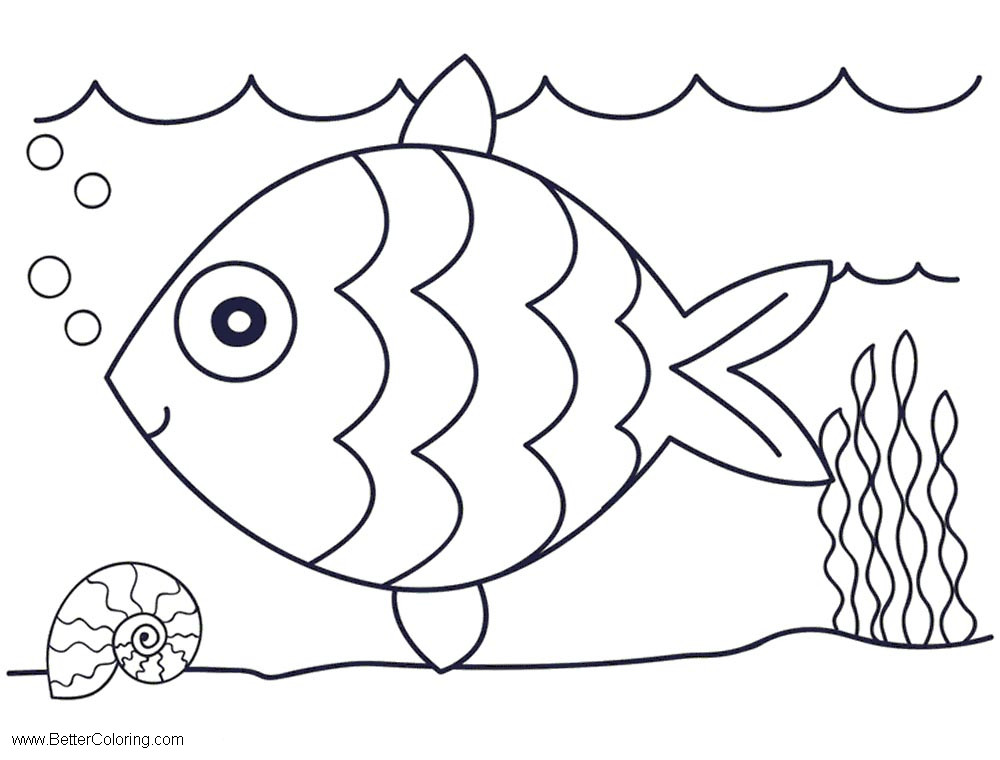 Under The Sea Coloring Pages Easy