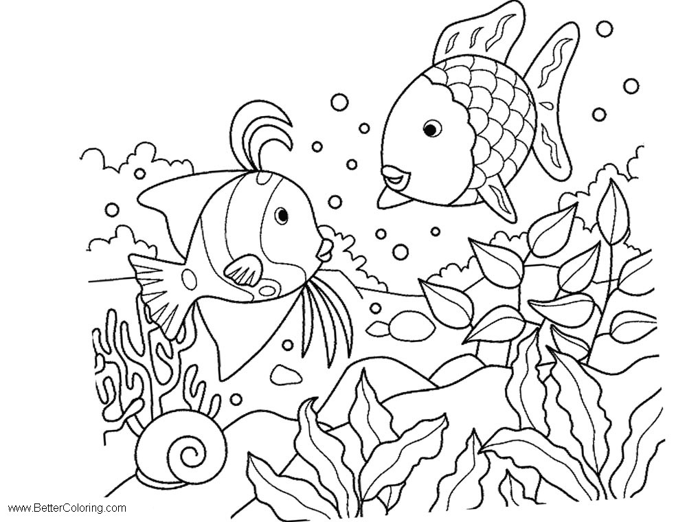 Free Under The Sea Coloring Pages Line Art printable