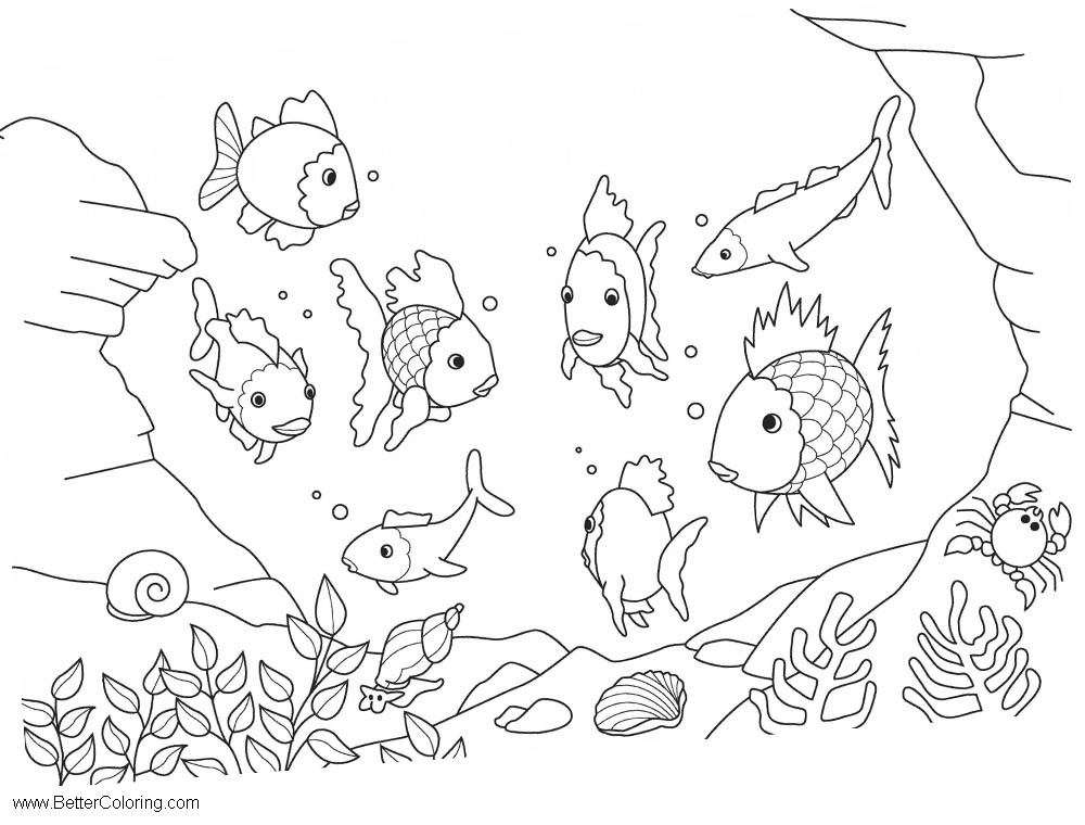 Free Under The Sea Coloring Pages Ocean Life Fishes printable