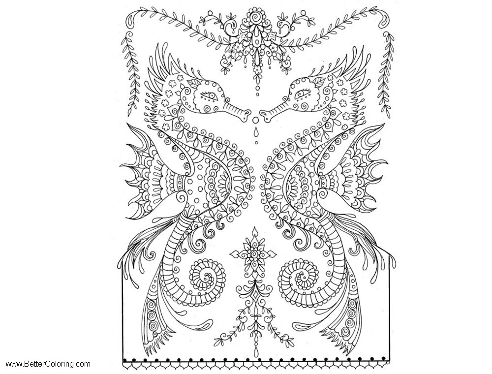 Free Under The Sea Coloring Pages Sea Horse printable