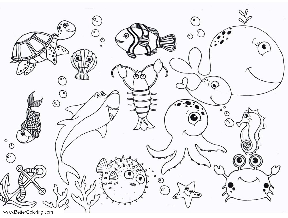 Free Under The Sea Octopus Coloring Pages printable