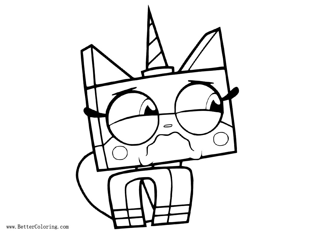 UniKitty Coloring Pages Crying Free Printable Coloring Pages