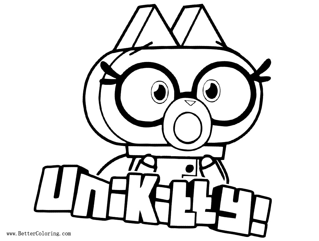 UniKitty Coloring Pages Dr Fox Free Printable Coloring Pages