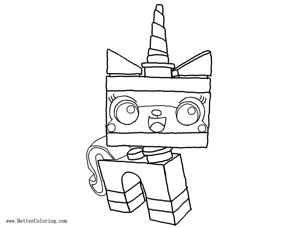 UniKitty Coloring Pages Lineart by ZeoChangling