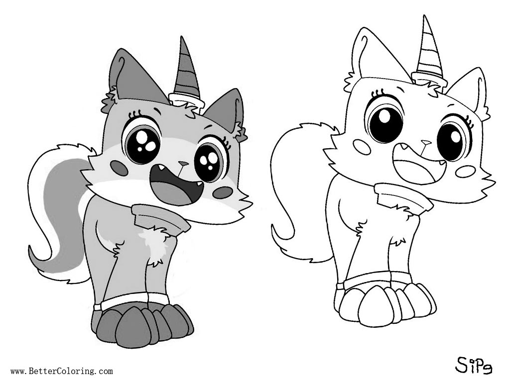 Unikitty Coloring Pages Line Art Free Printable Coloring