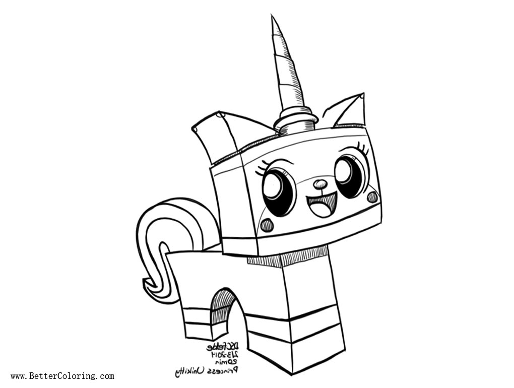 Unikitty Coloring Pages Princess by fedde Free Printable