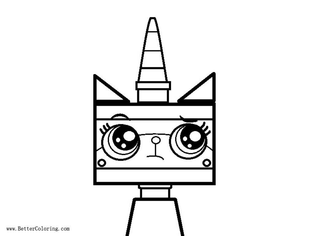 Unikitty Coloring Pages by Showlover Free Printable