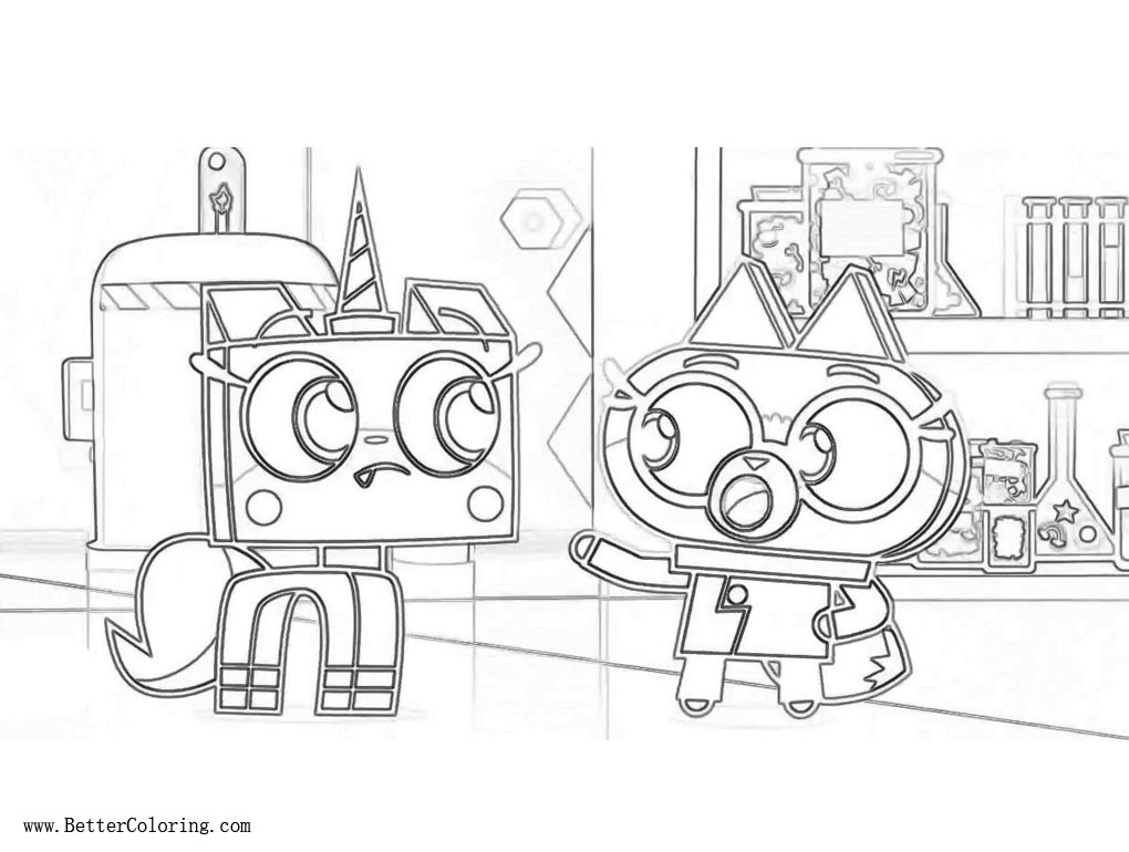 Unikitty Coloring Pages from Lego Movie Unikitty Free