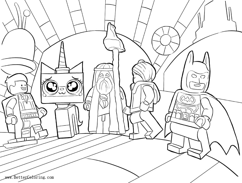 Unikitty Coloring Pages with Lego Friends Free Printable