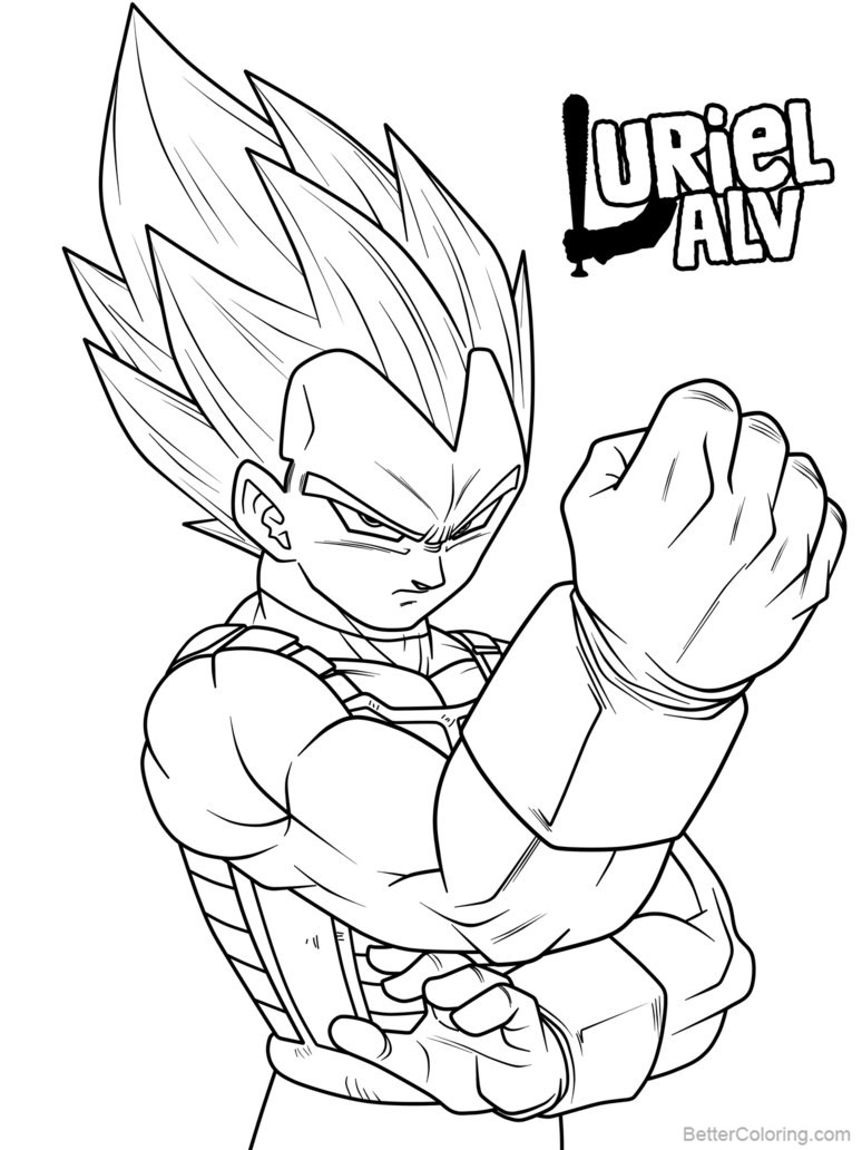 Free Vegeta Coloring Pages Limit Breaker by urielalv printable