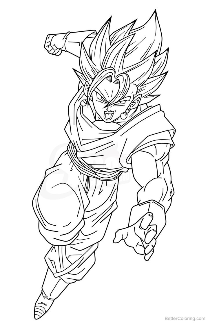 Free Vegeta Coloring Pages Vegetto SSJ by saodvd printable
