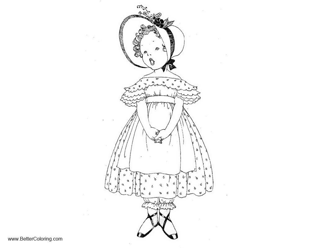 Free Vintage Girly Coloring Pages printable