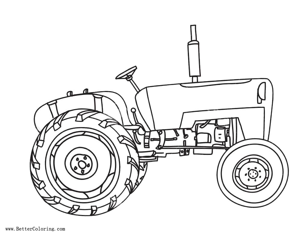 Vintage Tractor coloring pages