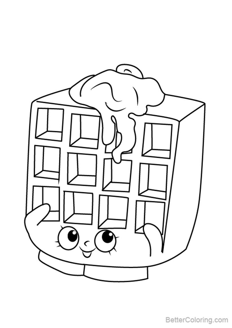 Free Waffle Sue from Shopkins Coloring Pages printable