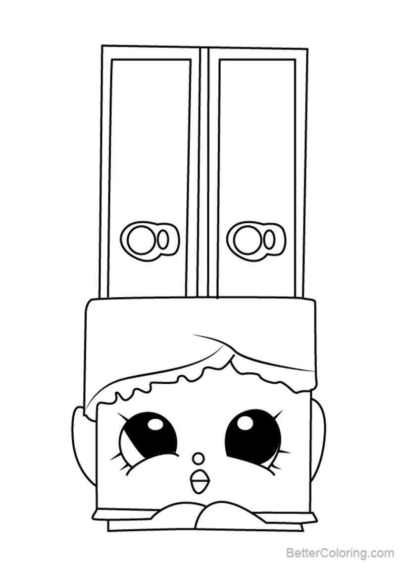 Free Wanda Wafer from Shopkins Coloring Pages printable