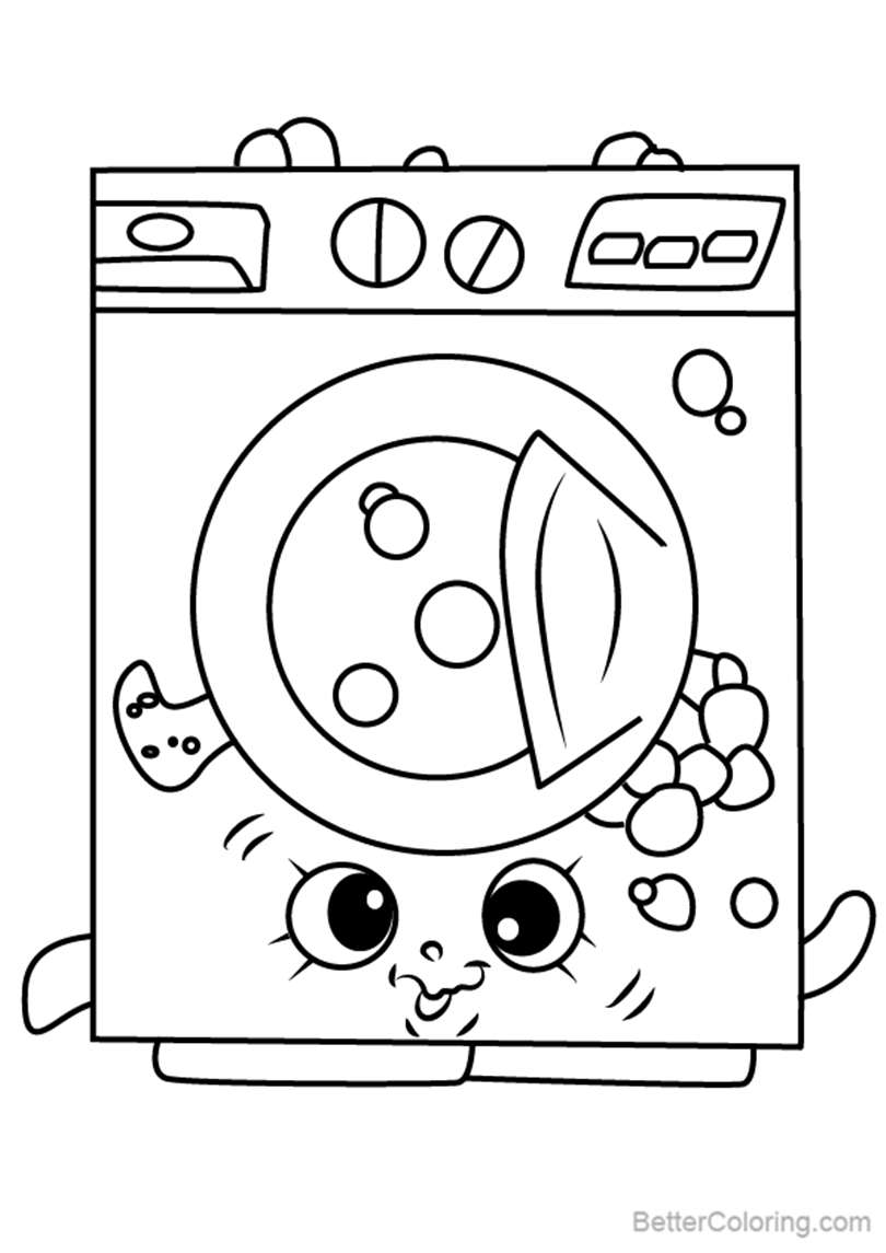 Washa from Shopkins Coloring Pages