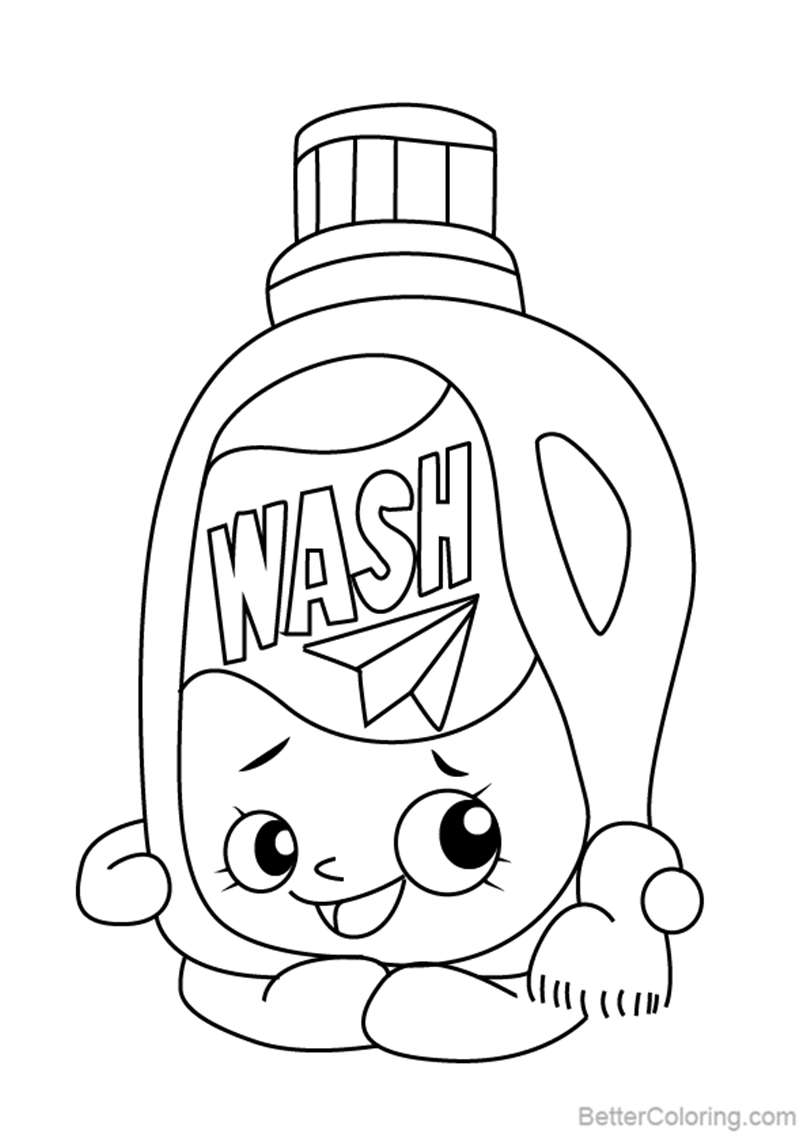 Free Wendy Washer from Shopkins Coloring Pages printable