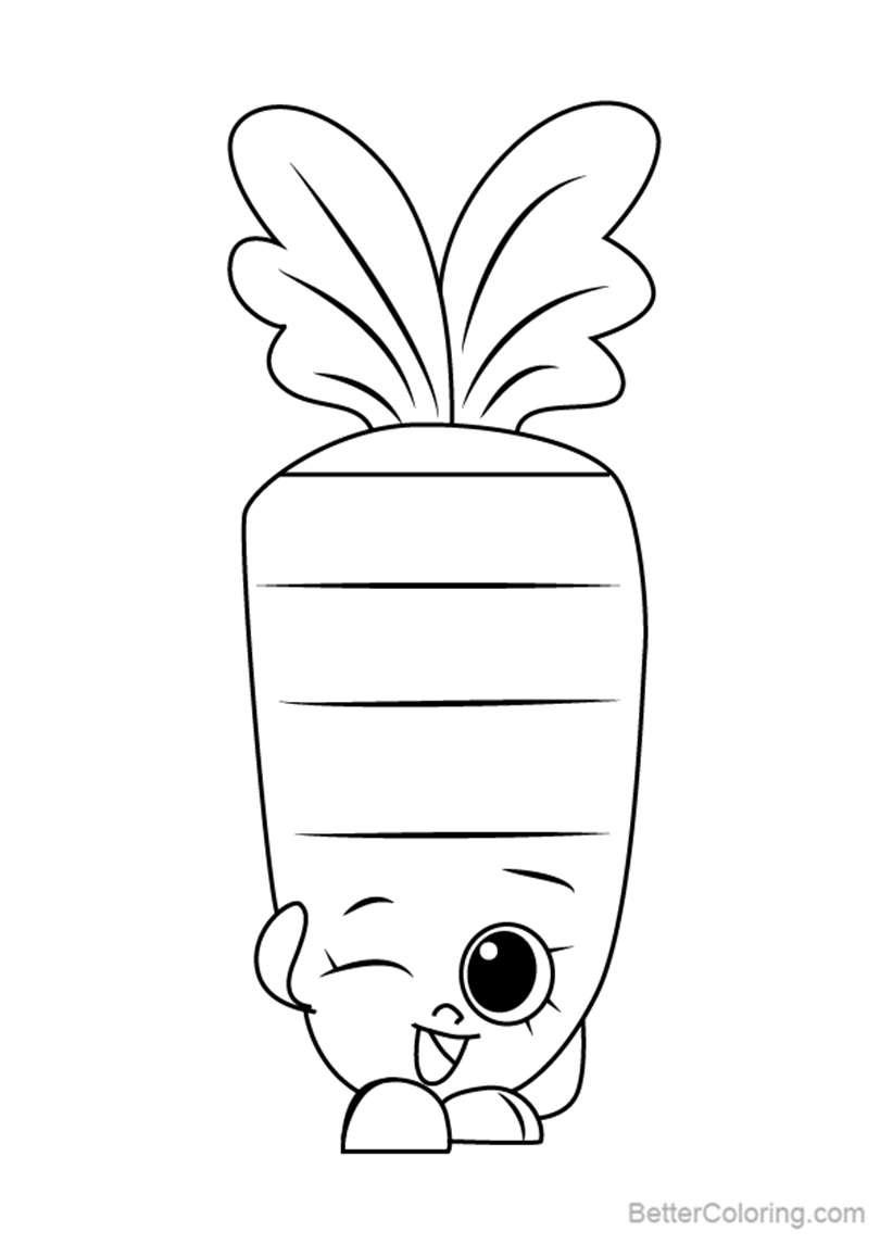 Wild Carrot from Shopkins Coloring