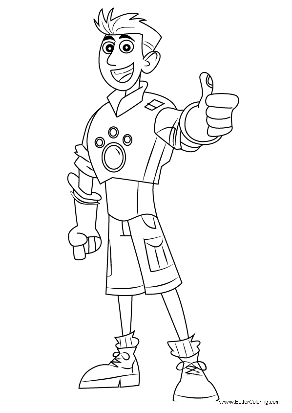 Free Wild Kratts Coloring Pages Chris Kratt printable
