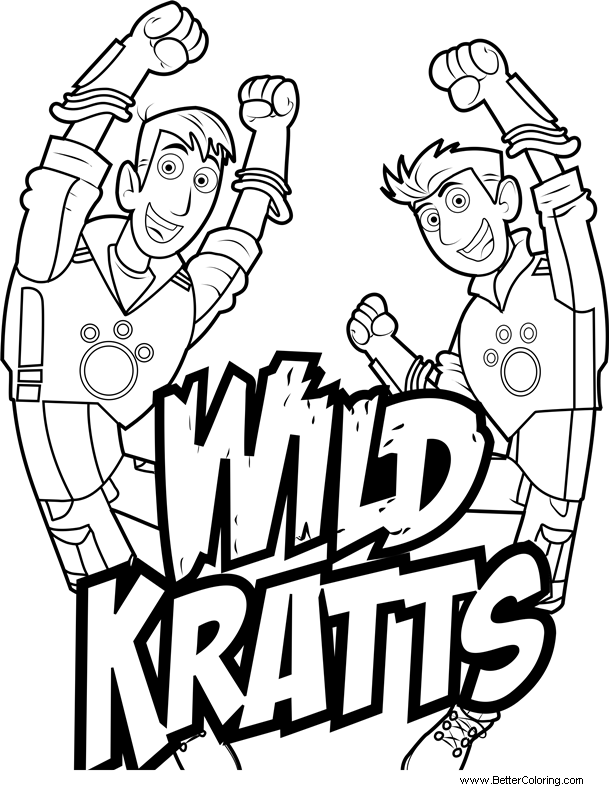 Free Wild Kratts Coloring Pages Logo printable