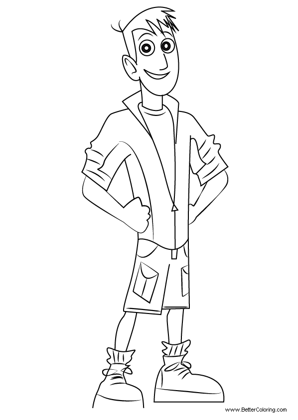 Free Wild Kratts Coloring Pages Martin Kratt printable