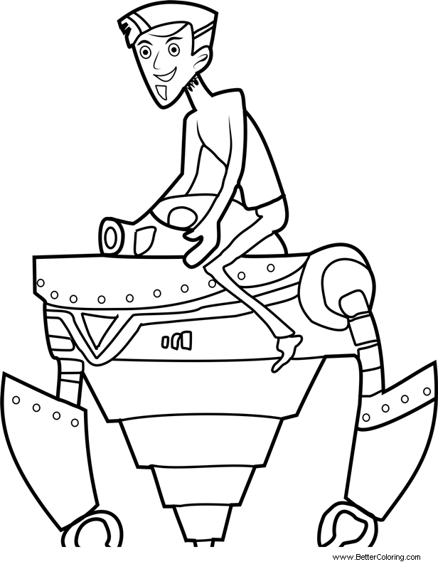 wild kratts coloring pages zachbots free printable coloring pages