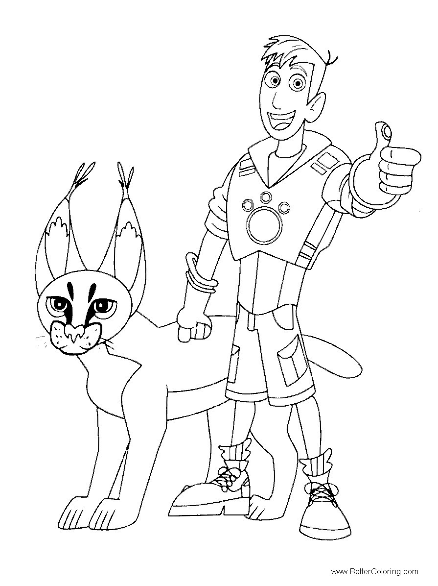 Free Wild Kratts Coloring Pages with Panther printable