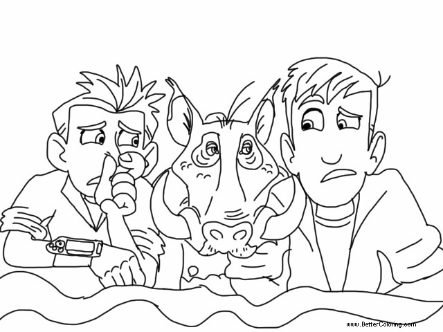 Free Wild Kratts Coloring Pages with Wild Boar printable