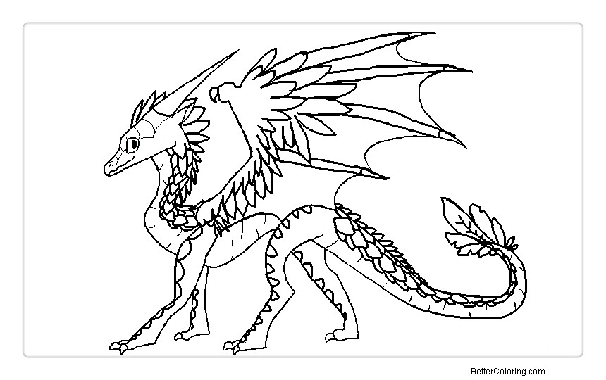 Free Wings of Fire Coloring Pages Lightwing printable