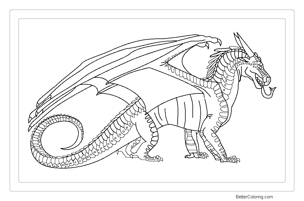Free Wings of Fire Coloring Pages Nightwing base by Windymoonstorm printable