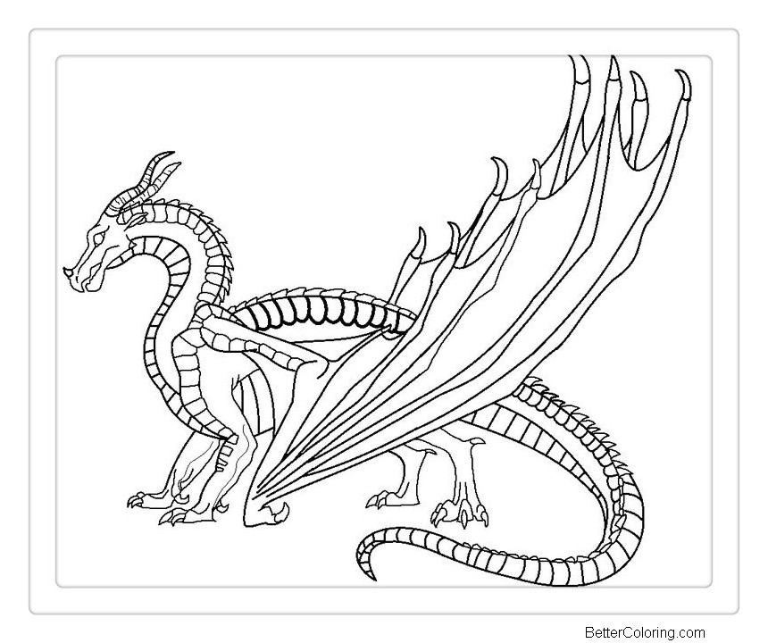 Free Wings of Fire Coloring Pages printable